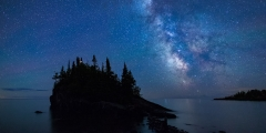 Honorable Mention Nature - Mars, Air Glow and the Milky Way - Terry Butler-