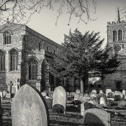 2nd Place Mono Print - The Abbey Church of St Mary and St Helena - Amanda Bierbaum