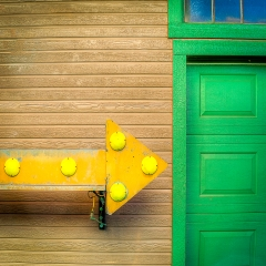 Color Print - Green Door - Terry Butler