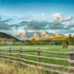 Realistic -Pastoral Mountain Scene - Melissa Anderson