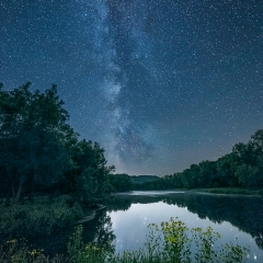 Nature- Milky Way over the Red Cedar River - Terry Butler
