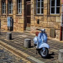 Honorable Mention Realistic - A Lone Vespa - Nick Warnken