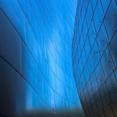 Honorable Mention Realistic -  Backlit Blue Walls of Disney Concert Hall – Ken Wolter