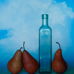 Color Print Honorable Mention - Three Pears and a Bottle - Terry Butler