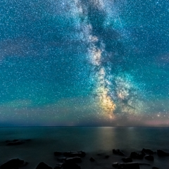 Realistic Honorable Mention - Milky Way Over Lake Superior - Marianne Diericks