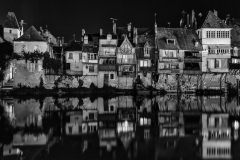 Mono Print Honorable Mention - Argenton River Reflections - Terry Butler