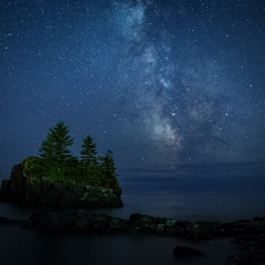 Realistic Acceptance - Milky Way over Hollow Rock - Terry Butler