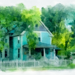 Contemporary Acceptance - House with Picket Fence - Terry Butler