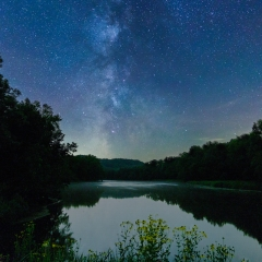 Realistic - Stars over the Red Cedar River - Terry Butler