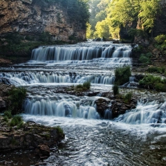 Realistic - Willow River Falls -  Larry Weinman