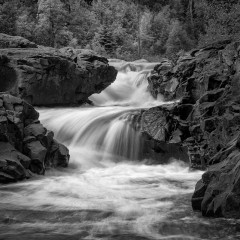 Mono Print Honorable Mention - Temperance River - Terry Butler