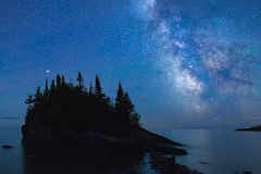 Color Print Award - Mars Airglow and the Milky Way - Terry Butler