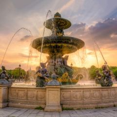 Realistic - Place de la Concorde Fountain - Terry Butler