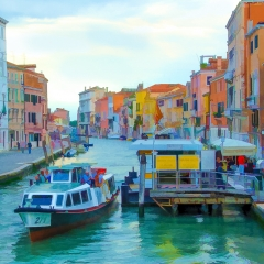 Contemporary - Venice Canal - Terry Butler