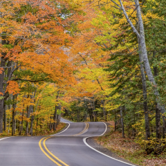 Road to Copper Harbor MI - H Steve Cole