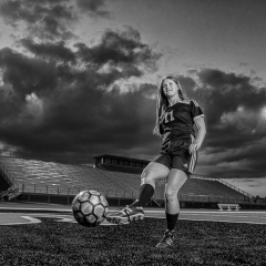 Blank & White Acceptance - Soccer Under the Lights - Fred Sobottka