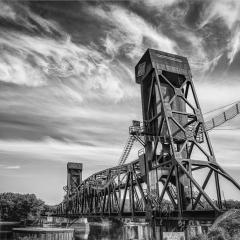 Blank & White Acceptance - Hastings Train Bridge - Terry Butler