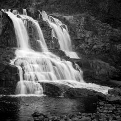 Blank & White Acceptance - Gooseberry Falls - Terry Butler