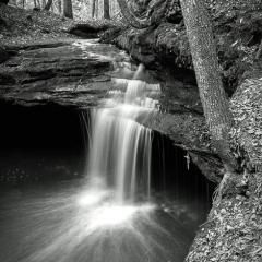 Blank & White Acceptance - Intimate Falls - Steve Plocher