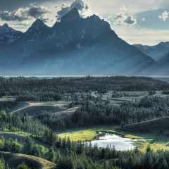 Nature Acceptance - God Rays over Hedrick Pond GTNP - Terry Butler