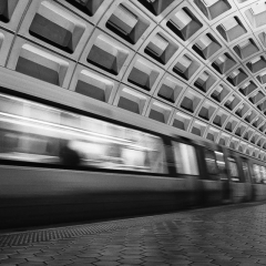 Blank & White Honorable Mention - DC Metro Station - Michael Waterman