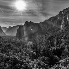 Blank & White Honorable Mention - Tunnel View, Yosemite NP - Mick Richards