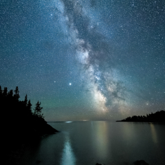 Honorable Mention - Travel - Jupiter and the Milky Way over Lake Superior MN - Marianne Diericks