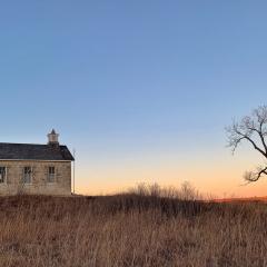 Assignment - Kansas schoolhouse at dusk - Jane Neumiller-Bustad