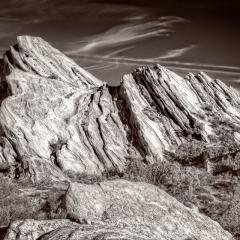 Merit - Black and White - Vasquez Rocks - Ken Wolter
