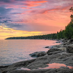 Honorable Mention - Travel - Lake Superior Sunset MN - Marianne Diericks