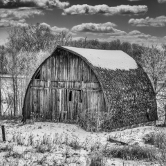 Merit - Black and White - Abandoned Barn - Ken Wolter