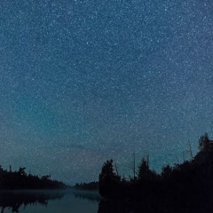 Nature - Stars over Poplar Lake - Terry Butler