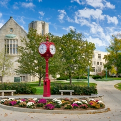 Landmark Campus Clock at University of Indiana