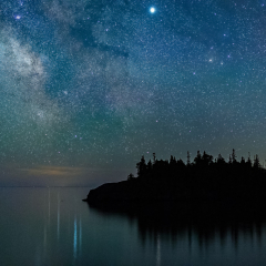 Honorable Mention - Nature - Saturn and the Milky Way over Ellingson Island - Terry Butler