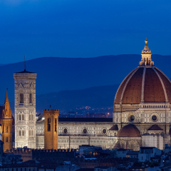 Honorable Mention - Travel - The Duomo in Blue-Italy - Melissa Anderson