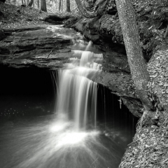 Merit - Black and White - Intimate Falls - Steve Plocher