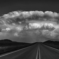 Honorable Mention Black and White - Black Hills Supercell - Paul Santo