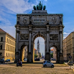 08 Bavarian Armies Gate - Munich Germany