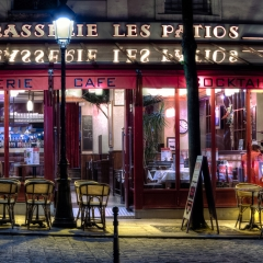 Merit - Travel - Paris Cafe Night France - Terry Butler